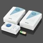 V001A2 Wireless Doorbell Transmitter + Receiver Set - White + Translucent Blue