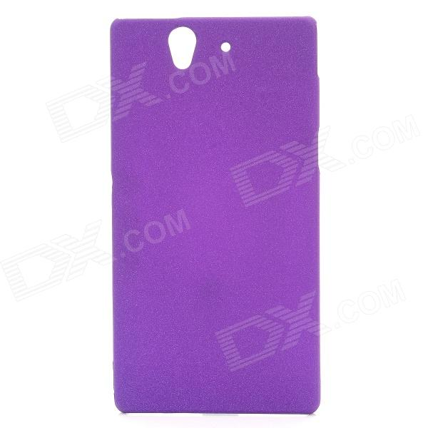 все цены на TEMEI Protective Quicksand PC Back Case for Sony Xperia Z L36h - Purple онлайн