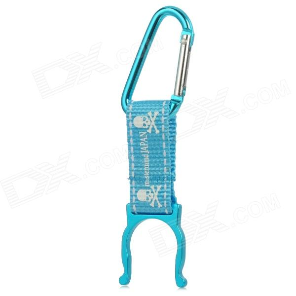 Aluminum Alloy Water Bottle Buckle Holder - Blue