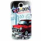 London Street Style Protective Plastic Back Case for Samsung Galaxy S4 i9500 - Black + Red