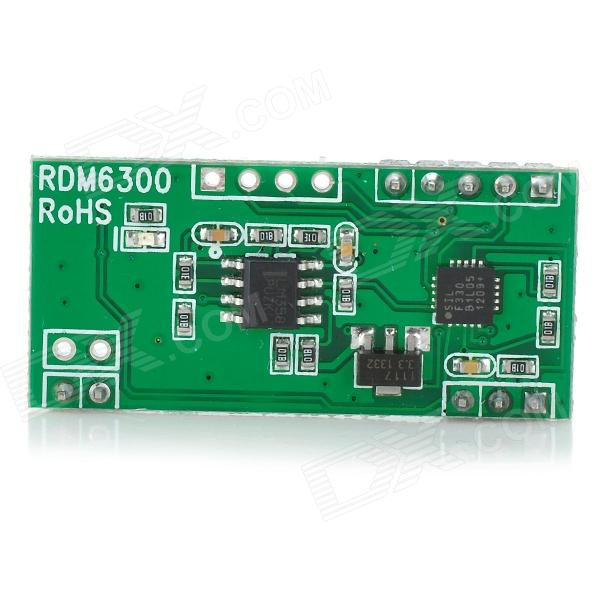 125K RFID Card Reader Module / RDM630 Series Non-Contact RF ID Card Module for Arduino - Green + Red the reader