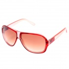 SENLAN 1166 Fashion Retro UV400 Protection Sunglasses - Transparent Wine Red