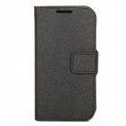 S-080B Protective PVC Case Flip Cover for Samsung S4 - Black
