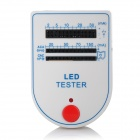Mini LED Tester Test Box - White + Blue (1 x 9V Battery)