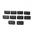 Car Window Control Switches for BMW - Black (10 PCS)