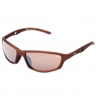 SENLAN 9811 Fashion UV400 Protection Outdoor Sport Sunglasses - Coffee