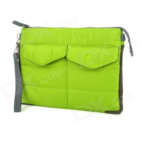 Multi-pouch Protective Padded Bag w/ Zipper Close for Ipad / Netbook / Cellphone + More - Green radiation proof protective inner pouch bag for ipad tablet pc camouflage green