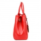 OM1R Elegant Office Lady Style Hand Bag Shoulder Backpack for Women - Red