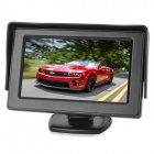 "4.3"" LCD 2.4GHz Wireless Car Rearview Monitor Camera Set w/ Sunvisor / 7-IR LED - Black"
