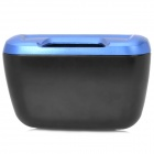 ShunWei SD-1601 Multifunctional Car ABS Hanging Trash Can - Blue + Black