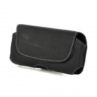 i4-BK-L Protective Leather Waist Belt Bag Case for Iphone 5 - Black