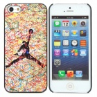 ENK-6001A Cool Street Hoop Pattern Protective Plastic Back Case for iPhone 5 - Multicolor