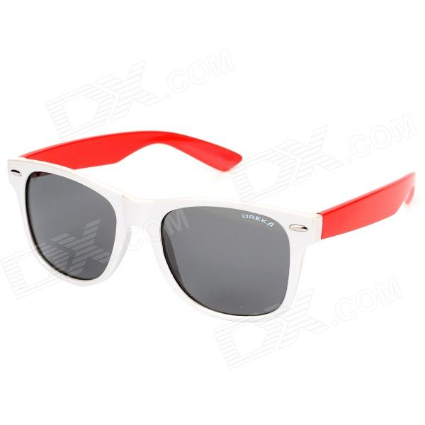 OREKA DY643 Fashion UV400 Protection Lady's Polarized Sunglasses - Silver White + Red ossat sh 800114 fashion retro women s uv400 protection polarized sunglasses transparent red