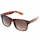 OREKA DY643 Fashion Retro UV400 Protection PC Lens Sunglasses - Amber
