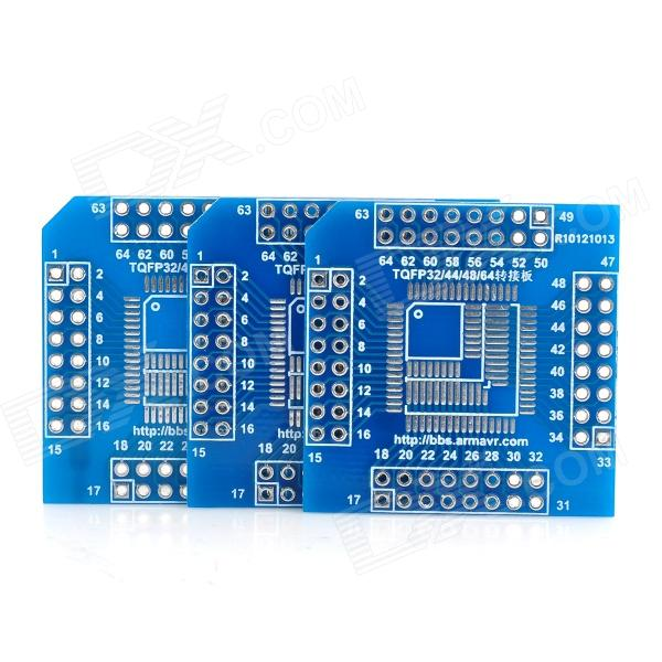 все цены на Multifunction LQFP / TQFP32 / 44 / 48 / 64 to DIP64 Adapter Breakout Boards for Arduino онлайн