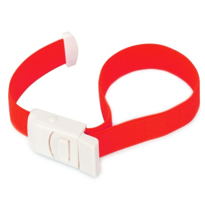 Outdoor Camping Buckle Head Elastinen vyö Tourniquet for Medical - Punainen