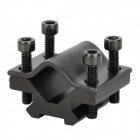 Aluminum Alloy Flashlight Gun Mount for 20mm Rail - Black