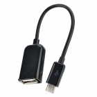 Micro USB Male to USB Female OTG Data Cable for Samsung - Black (14cm)