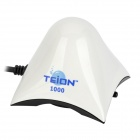 TEION 1000 Ultra-quiet Oxygen Increasing Air Pump w/ 2-Round-Pin Plug for Fish Tank - White + Black