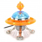 Cute Plastic Decorative Aircraft for Fish Tank / Aquarium - Orange + Blue + Silver