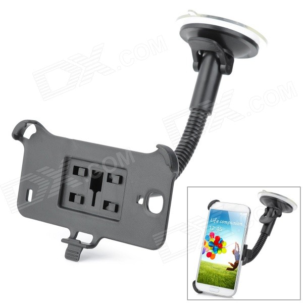 Suction Cup Car Mount Holder for Samsung Galaxy S4 GT-i9500 - Black 360 degree rotational car mount holder w suction cup for samsung galaxy note 3 n9000 n9002