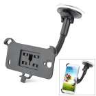 Suction Cup Car Mount Holder for Samsung Galaxy S4 GT-i9500 - Black
