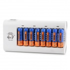 "GD 808A AA / AAA Battery Charger + 8 x Ni-MH AA ""3000mAH"" Batteries Set - Black + Grey"
