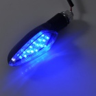 ZX-01 0.3W 30lm 490nm 12-LED Blue Light Motorcycle Steering Light - (12V / 2 PCS)