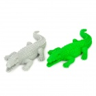 Crocodile Shaped Eraser - Green + Grey (2 PCS)