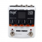 NUX / Stomp Boxes / Mod Force Multi Modulation Effect Pedal - White + Black (1 x 9V)