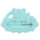 Baoda 249-25 Cute Sleeping Bear Shape Baby Bathing Water Thermometer - Light Blue