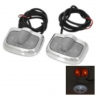 Skull Pattern 3W 200lm 3-LED White Light Welcome Light Courtesy Door Light Lamps - (2 PCS)