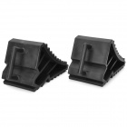 Car Wheel Rubber Reversing Slip Pads Stoppers - Black (2 PCS)