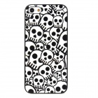 ENK-6001A Cool Skull Pattern Protective Plastic Back Case for Iphone 5 - White + Black