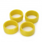 60mm Duroplast Wheels for R/C 1:10 Drift Car - Yellow (4 PCS)