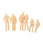 1:43 Model People Figures for Decoration / Display - Light Yellow (100 PCS)