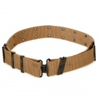 CORDURA Tactical Durable Nylon Waist Belt with Metal Buckle - Khaki