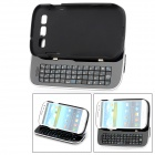 (VR) Detachable Bluetooth 50-Key Keyboard Case for Samsung i9300 Galaxy S3 - Black