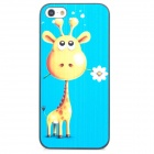 ENK-6001A Cute Giraffe Pattern Protective Plastic Back Case for Iphone 5 - Blue + Black