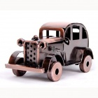 Classic Car Shaped Iron Craft Display Model - Brown