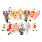 1:25 Painted Outdoor Model People Decoration - Multicolored (20 PCS)