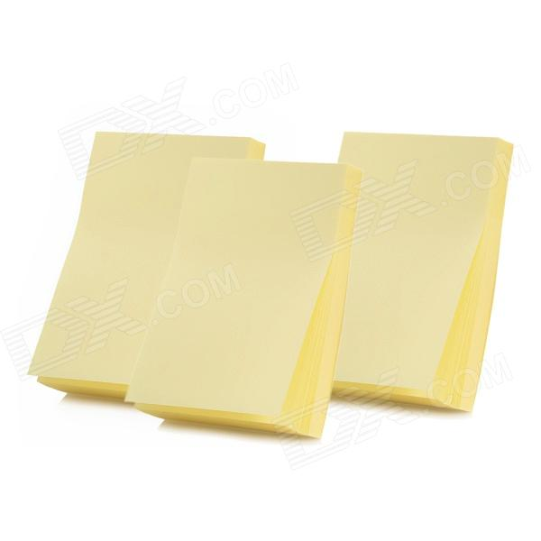 DELI 7732 Convenient Paper Sticky Note - Yellow (3 PCS) never rose gold sticky notes and memo pads set cute post note paper notepads set fashion office accessories stationery store