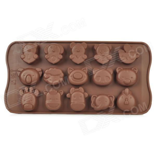 DIY Animals Shaped Silicone Chocolate / Ice Mold - Coffee