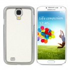 Shimmering Powder Style Protective PC Back Case for Samsung Galaxy S4 i9500 - White + Silver