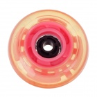 zq876 Outdoor Sports 64mm-Diameter Flash Rollerskate Wheel - Pink
