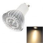X6 GU10 6W 200~220lm 3200K 3-CREE XP-E R2 Warm White Spotlight - Silver + White