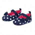 Cute Dots Pattern Cotton Baby Shoes - Deep Blue + White (Pair / 3-6 months)