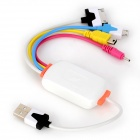 4-in-1 USB Male to Apple 30-pin / Mini USB / Micro USB / Nokia N95 Male Charging Cable (30cm)