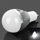 GU10 3W 270lm 6000K 3-Epistar LED White Light Bulb - Milky White + Silber (85 ~ 265V)