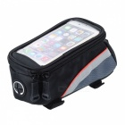 "ROSWHEEL 12496S-C5 Bike Bicycle 4.2"" Touch Screen Phone Bag w/ 3.5mm Earphone Hole - Black + Red"